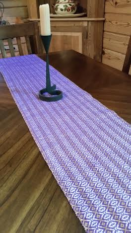 Advent Purple Shown on Table